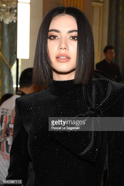 Davika Hoorne attends the Balmain show as part of the Paris Fashion Week Womenswear Spring/Summer 2019 on September 28 2018 in Paris France