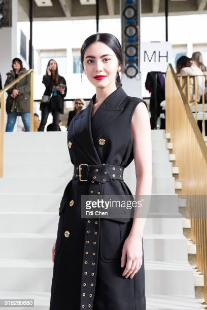 Davika Hoorne attends the Michael Kors Collection Fall 2018 Runway Show at the Vivian Beaumont Theatre on February 14 2018 in New York City