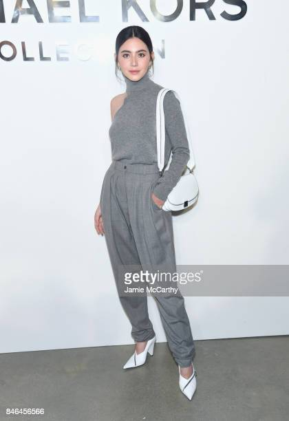 Davika Hoorne attends the Michael Kors Collection Spring 2018 Runway Show at Spring Studios on September 13 2017 in New York City