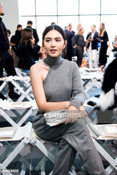 Davika Hoorne attends the Michael Kors runway show during New York Fashion Week at Spring Studios on September 13 2017 in New York City
