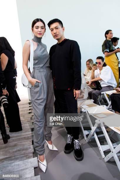 Davika Hoorne Bryan Grey Yambao attend the Michael Kors runway show during New York Fashion Week at Spring Studios on September 13 2017 in New York...