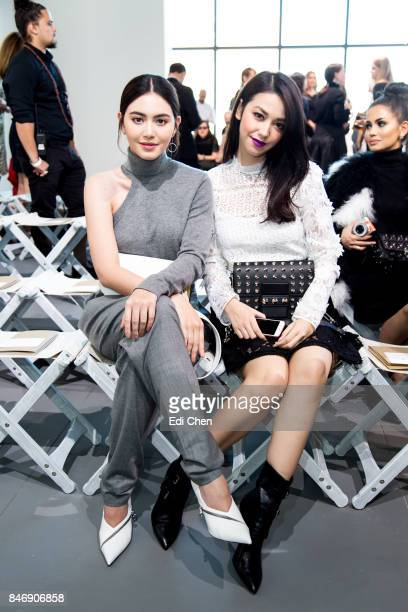 Davika Hoorne Velove Vexia attend the Michael Kors runway show during New York Fashion Week at Spring Studios on September 13 2017 in New York City