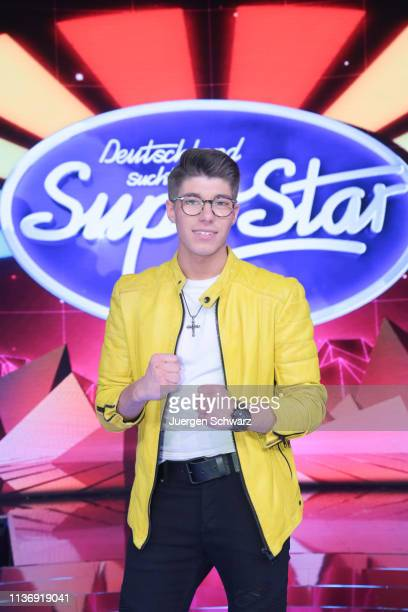 Davin Herbrueggen poses after the second event show of the tv competition Deutschland sucht den Superstar at Coloneum on April 13 2019 in Cologne...