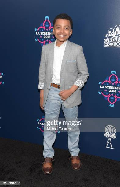 Davin Trey Campbell attends the 20th Century Fox 2018 LA Screenings Gala at Fox Studio Lot on May 24 2018 in Century City California