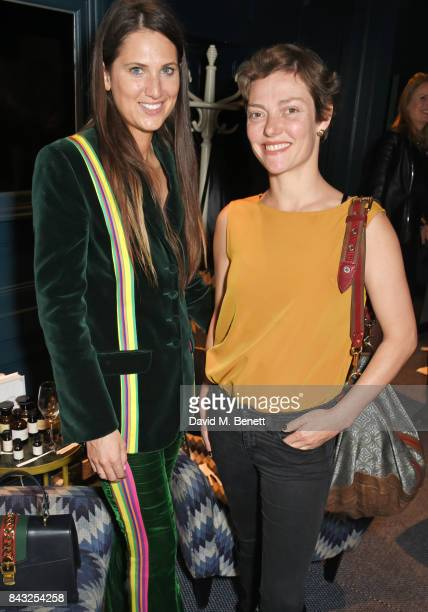 Davina Catt and Camilla Rutherford attend a private breakfast hosted by Azzi Glasser to launch of new fragrance 'After Hours' created by The...
