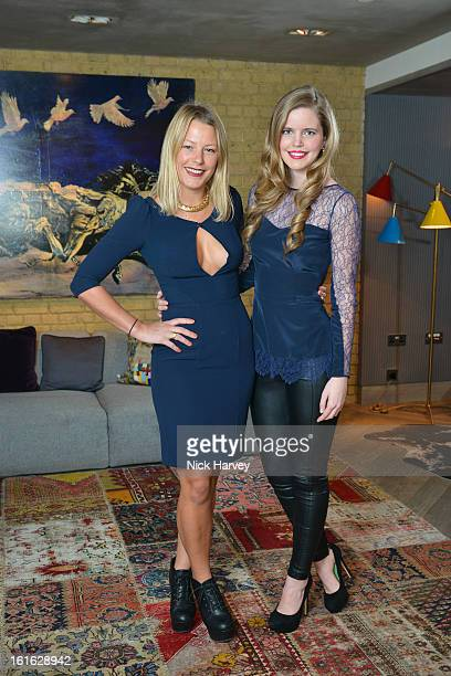 Davina Harbord and Katie Readman attend at Bungalow 8 presents Beulah London hosted by Amy Sacco at Belgraves A Thompson Hotel on February 13 2013 in...