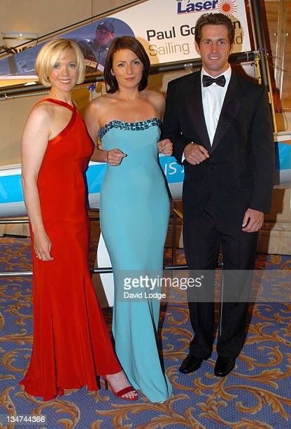 Davina McCall and Ben Ainsley with a guest