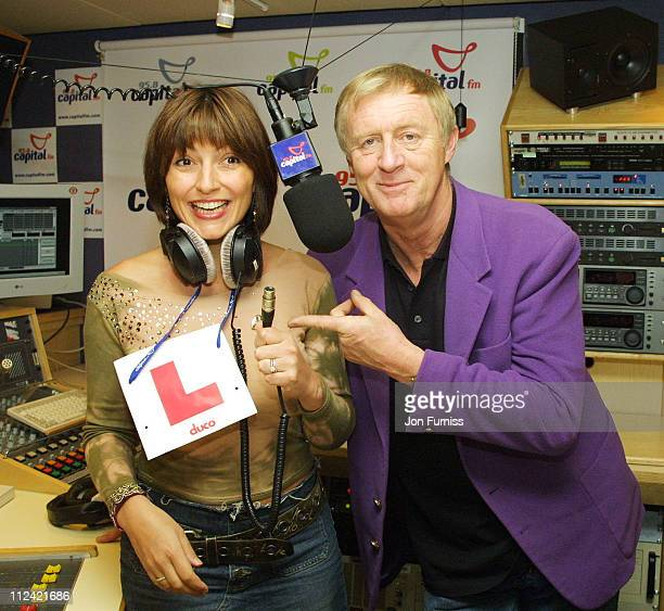 Davina McCall and Chris Tarrant during Capital FM Announce Davina McCall Will Host The Breakfast Show at Leicester Square in London Great Britain