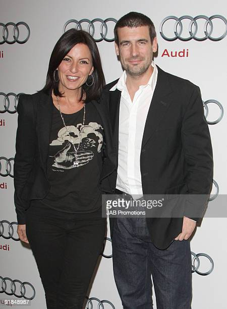 Davina McCall and husband Matthew Robertson attends the opening of the new Audi Showroom on October 12 2009 in London England