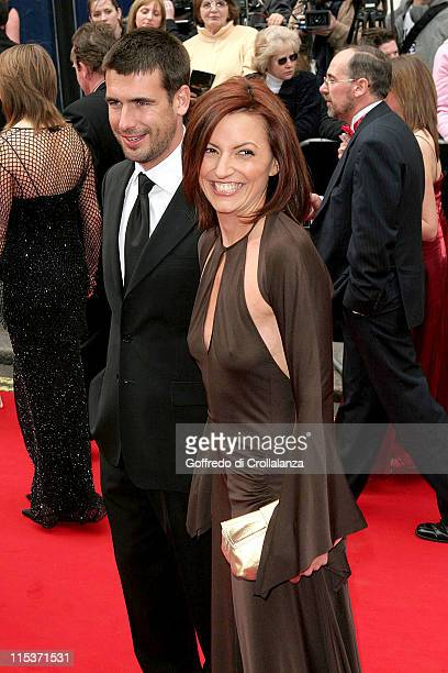 Davina McCall and husband Matthew Robertson during The Pioneer British Academy Television Awards Outside Arrivals at Royal Theatre in London Great...