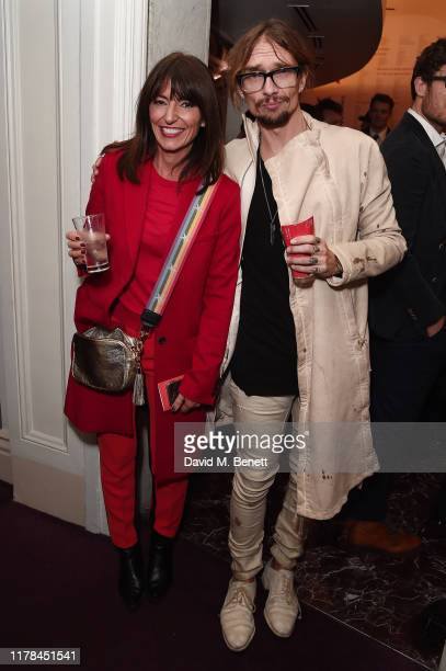 Davina McCall and Justin Hawkins attend the English National Opera's opening night of the season featuring a performance of Orpheus and Eurydice at...
