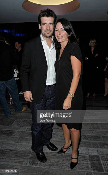 Davina McCall and Matthew Robertson attend the 02 X Awards at the Paramount Centrepoint on September 29 2009 in London England