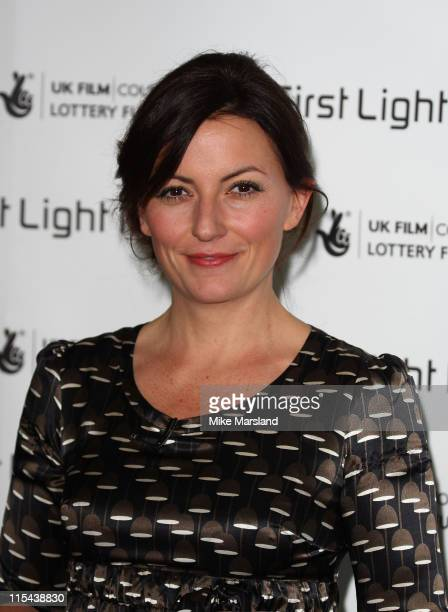 Davina McCall arrives at the First Light Movies Awards at the Odeon Leicester Square on March 4 2008 in London England