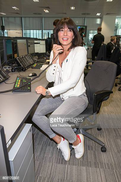 Davina McCall arrives for BGC Annual Global Charity Day at Canary Wharf on September 12 2016 in London England