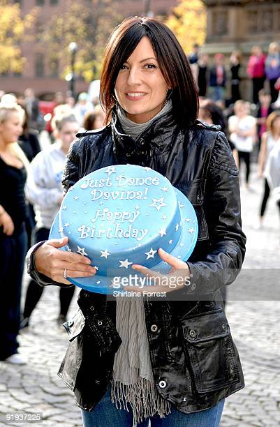 Davina McCall attends the mass dance routine for the new Sky 1 Just Dance programme Scheduled for broadcast in January 2010 the ninepart series Just...