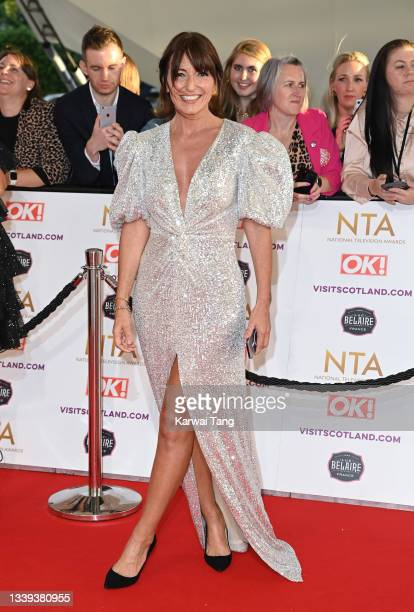 Davina McCall attends the National Television Awards 2021 at The O2 Arena on September 09, 2021 in London, England.