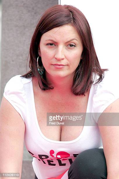Davina McCall during 2006 Sport Relief Launch Photocall at Trafalgar Square in London Great Britain