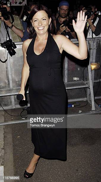 Davina McCall during 5 New House Mates Enter The Big Brother House June 30 2006 at Elstree Studios in London Great Britain