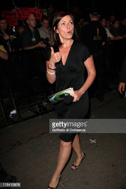 Davina McCall during Big Brother 6 10th Eviction at Elstree Studios in London Great Britain