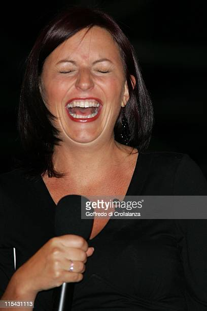 Davina McCall during Big Brother 7 2006 Fourth Eviction at Elstree Studios in Borehamwood Great Britain