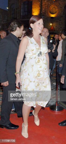 Davina McCall during Big Brother 7 Wrap Party Outside Arrivals at Gilgamesh Restaurant in London Great Britain