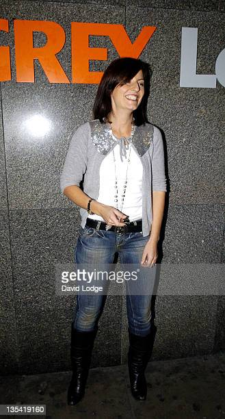 Davina McCall during Big Night In 2005 Party Arrivals at Grey Street in London Great Britain