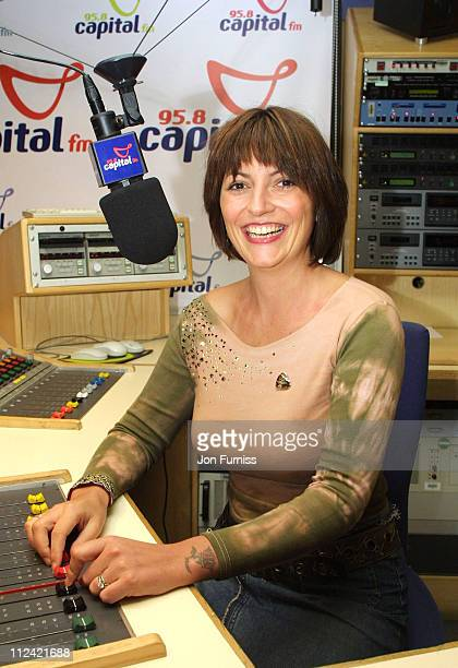 Davina McCall during Capital FM Announce Davina McCall Will Host The Breakfast Show at Leicester Square in London Great Britain