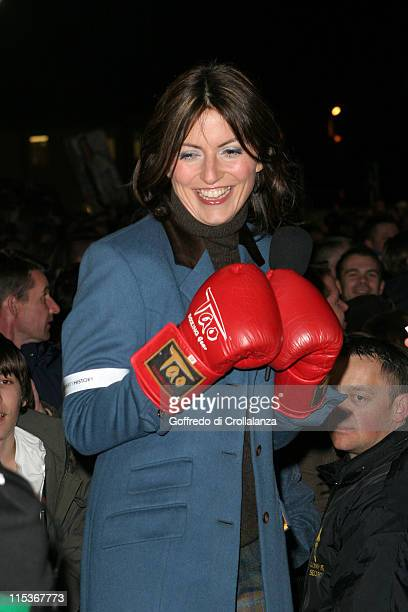 Davina McCall during Celebrity Big Brother 2 First Eviction at Elmstree Studios in London England Great Britain
