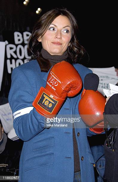 Davina McCall during Celebrity Big Brother 2 First Eviction at Elstree Studios in London England Great Britain