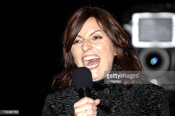 Davina McCall during Celebrity Big Brother 4 Second Eviction at Elstree Studios in London Great Britain