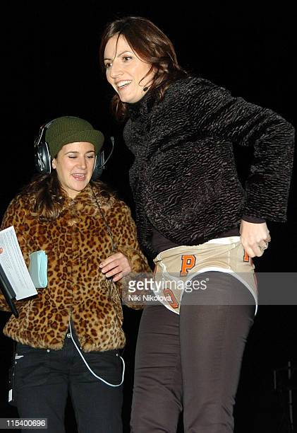 Davina McCall during 'Celebrity Big Brother 4' Second Eviction January 17 2006 at Elstree Studios in Borehamwood Great Britain