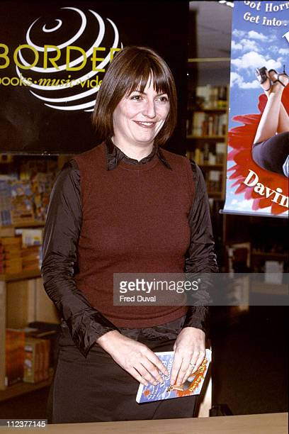 Davina McCall during Davina McCall Instore Book Signing The Dating Game at Borders Bookstore in London Great Britain
