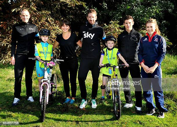 Davina McCall is joined by defending Tour of Britain champion Sir Bradley Wiggins and fellow Team Sky teammates Ben Swift and Ian Stannard and young...