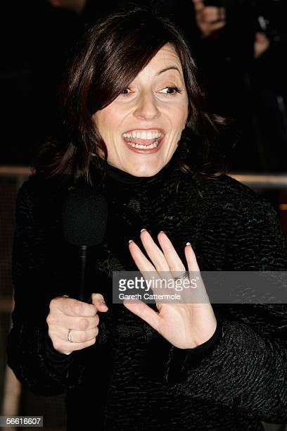 Davina McCall is seen outside the Celebrity Big Brother 4 house at Elstree Studios on January 18 2006 in Borehamwood England