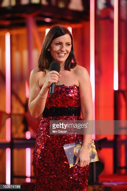 Davina McCall presents the final of Ultimate Big Brother on September 10 2010 in Borehamwood England