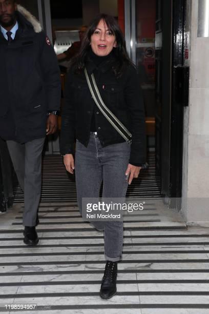 Davina McCall seen at BBC Radio 2 on January 10, 2020 in London, England.