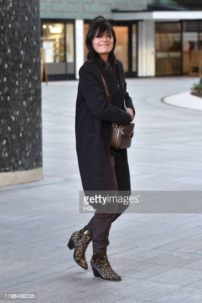 Davina McCall seen at the ITV Studios on January 09, 2020 in London, England.