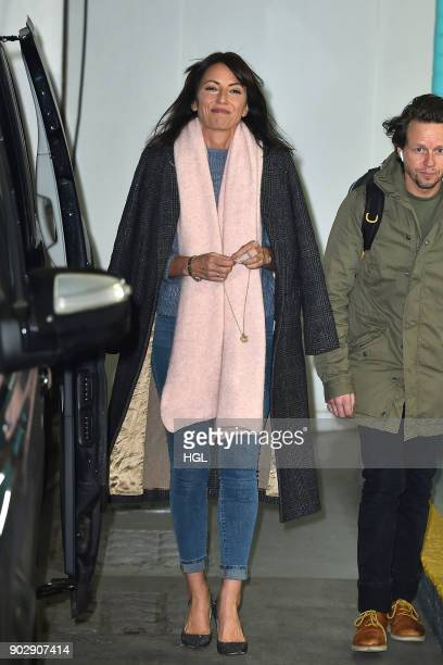 Davina McCall seen at the ITV Studios on January 9 2018 in London England