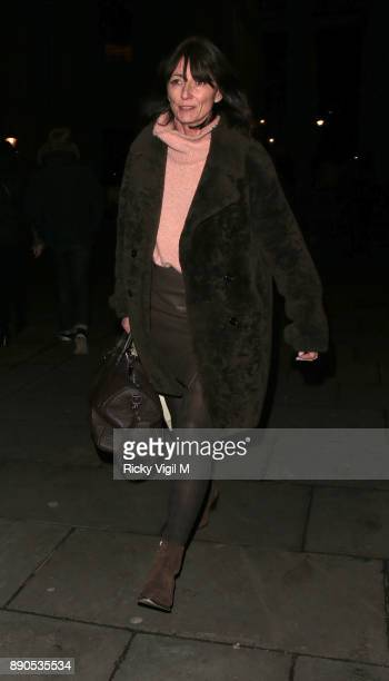 Davina McCall seen leaving St MartinintheFields Church after attending Missing People Carol Service on December 11 2017 in London England