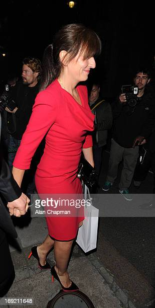 Davina McCall sighting leaving the Goop Party at Mark's Club Mayfair on May 21 2013 in London England