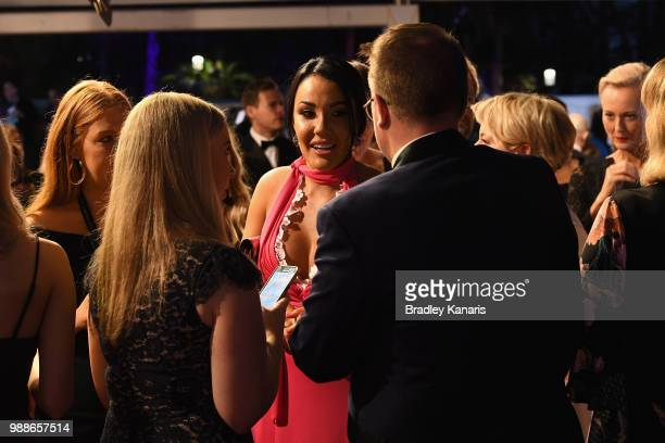Davina Rankin arrives at the 60th Annual Logie Awards at The Star Gold Coast on July 1 2018 in Gold Coast Australia