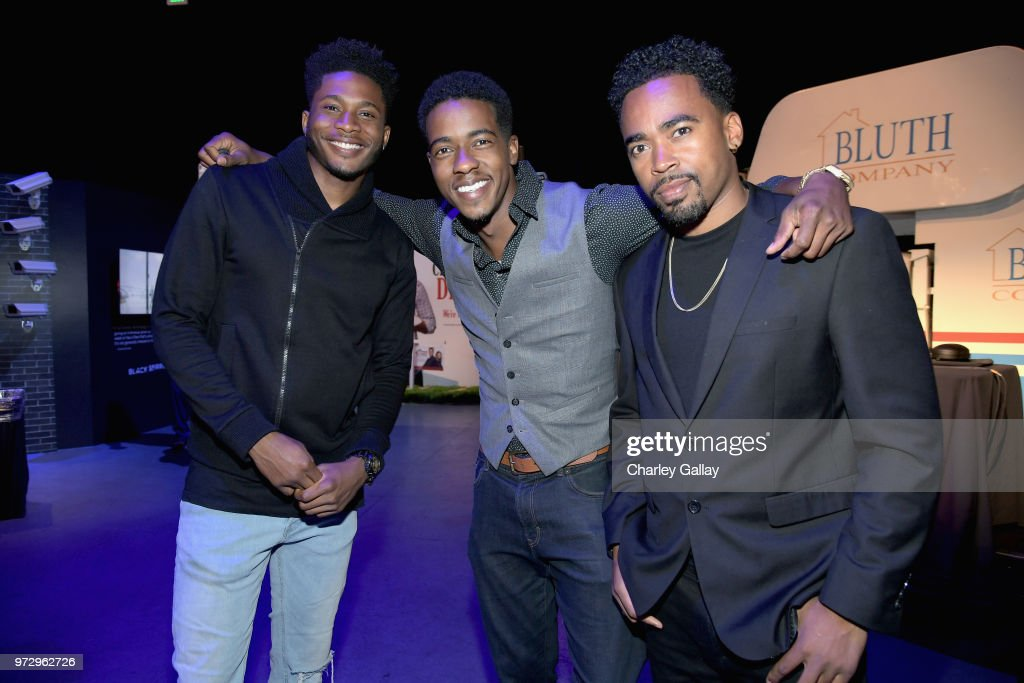Da'Vinchi (R) and guests attend Strong Black Lead party during Netflix FYSEE at Raleigh Studios on June 12, 2018 in Los Angeles, California.