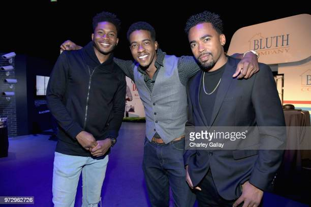 Da'Vinchi and guests attend Strong Black Lead party during Netflix FYSEE at Raleigh Studios on June 12 2018 in Los Angeles California