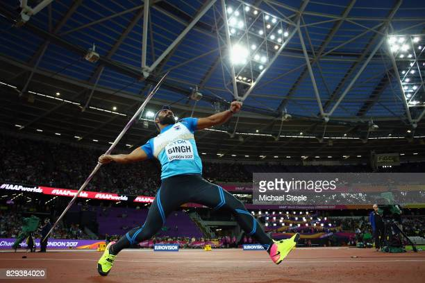 Davinder Singh of India competes in the mens javelin throw qualification group B during day seven of the 16th IAAF World Athletics Championships...