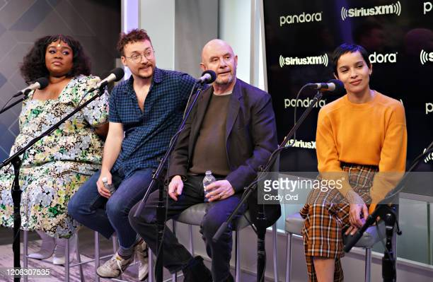 Da'Vine Joy Randolph David H Holmes Nick Hornby and Zoe Kravitz of Hulu's High Fidelity sit down for an interview at the SiriusXM Studios on February...