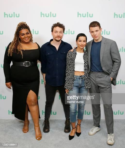 Da'Vine Joy Randolph, David H. Holmes, Zoë Kravitz, and Jake Lacy attend the Hulu Panel at Winter TCA 2020 at The Langham Huntington, Pasadena on...