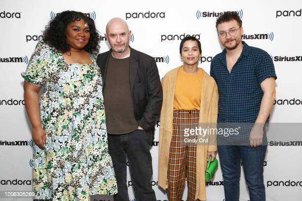 Da'Vine Joy Randolph Nick Hornby Zoe Kravitz and David H Holmes of Hulu's High Fidelity sit down for an interview at the SiriusXM Studios on February...