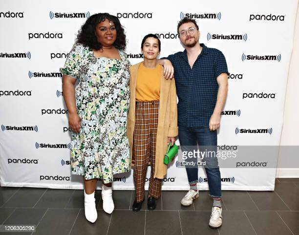 Da'Vine Joy Randolph Zoe Kravitz and David H Holmes of Hulu's High Fidelity sit down for an interview at the SiriusXM Studios on February 14 2020 in...