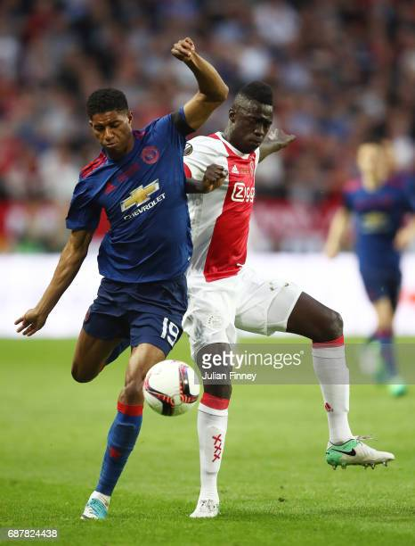 Davinson Sanchez of Ajax and Marcus Rashford of Manchester United in action during the UEFA Europa League Final between Ajax and Manchester United at...