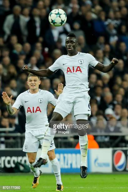Davinson Sanchez of Tottenham Hotspur controls the ball during the UEFA Champions League group H match between Tottenham Hotspur and Real Madrid at...
